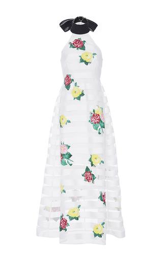 Medium zayan the label white striped floral julianne dress