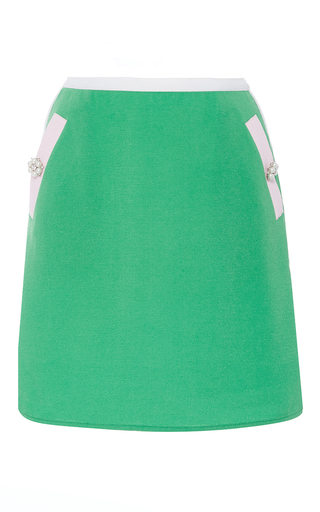 Medium zayan the label green max mini a line skirt