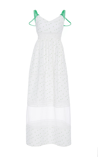Medium zayan the label white mel multi strap dot print dress