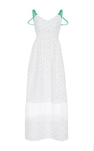 Medium zayan the label white mel multi strap dot print dress