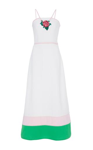 Medium zayan the label white leo embroidered halter dress