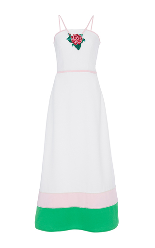 Medium zayan the label white leo embroidered halter dress