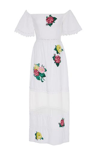 Medium zayan the label white gwenie off the shoulder eyelet dress