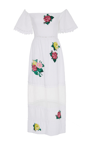 Medium zayan the label white gwenie off the shoulder eyelet dress