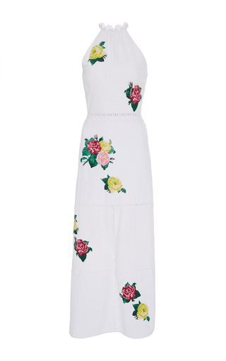 Medium zayan the label white julia floral eyelet dress