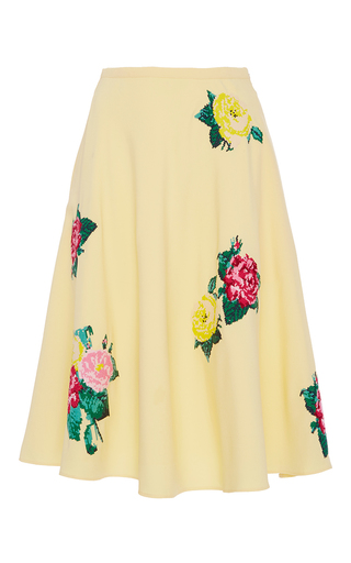 Medium zayan the label yellow judy high waist floral skirt