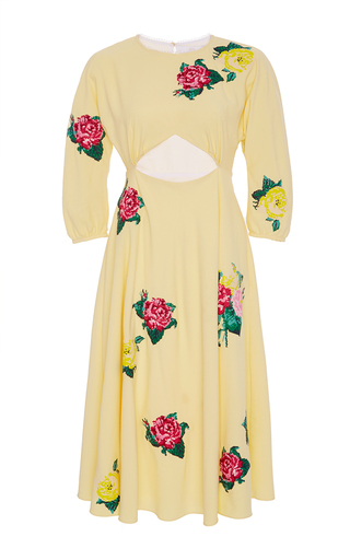 Medium zayan the label yellow sonny cut out floral dress