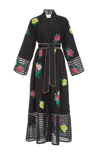 Medium zayan the label black kimi embroidered kimono