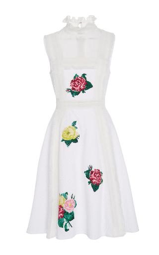 Medium zayan the label white doray ruffle neck dress