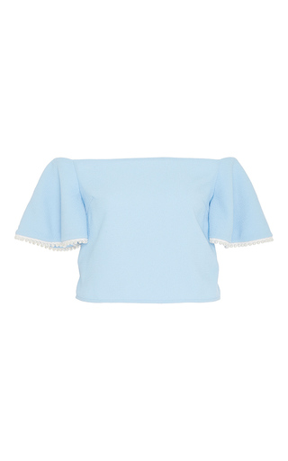 Medium zayan the label light blue gwenth blue off the shoulder top