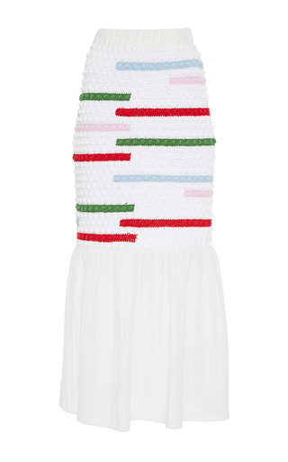 Medium zayan the label multi peggy crochet skirt