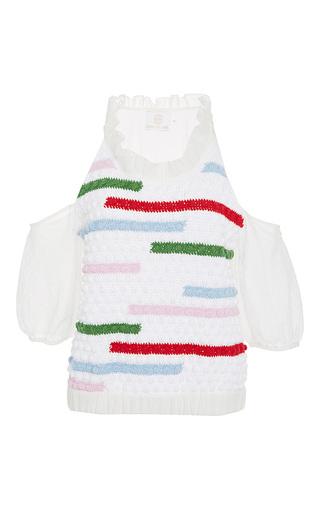 Medium zayan the label multi sola crochet sweater