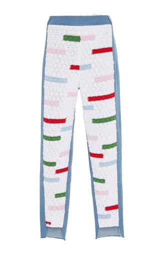 Medium zayan the label multi marnie crochet front trousers