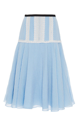 Medium zayan the label light blue dana lace detail skirt