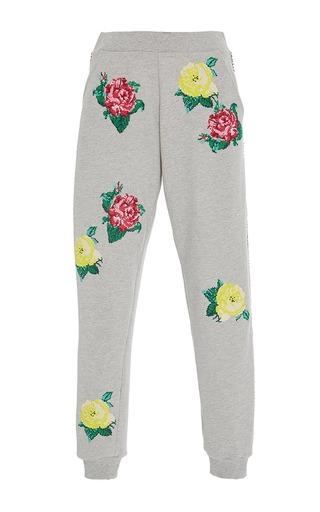 Medium zayan the label light grey toni floral jogger pants