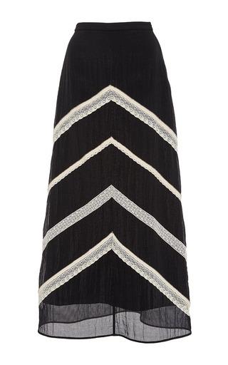 Medium zayan the label black petal lace a line skirt