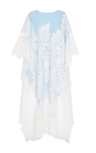 Medium zayan the label light blue cathy palm leaf lace kaftan