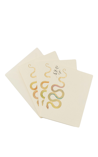 Medium bernard maisner neutral snake custom note cards