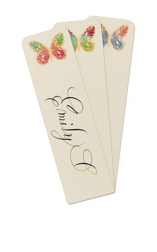 Medium bernard maisner neutral butterfly custom bookmark