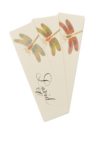 Medium bernard maisner neutral dragonfly custom bookmark