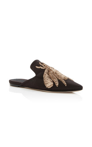 Medium sanayi 313 brown embroidered slippers