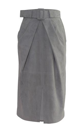 Medium alejandra alonso rojas grey marisa belted pencil skirt