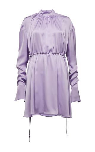 Medium magda butrym purple long sleeve mock neck mini dress