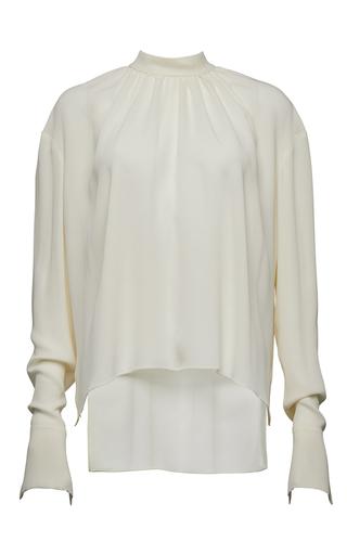 Medium magda butrym white long sleeve mock neck blouse