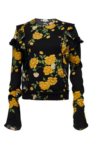 Medium magda butrym black long sleeve double breasted ruffle blouse 2