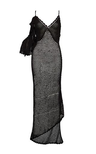 Medium magda butrym black v neck knit midi dress 2