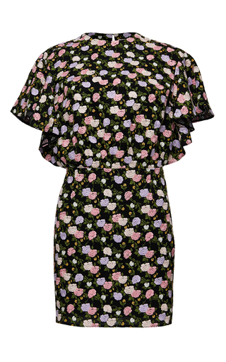 Medium magda butrym black butterfly sleeve embroidered mini dress