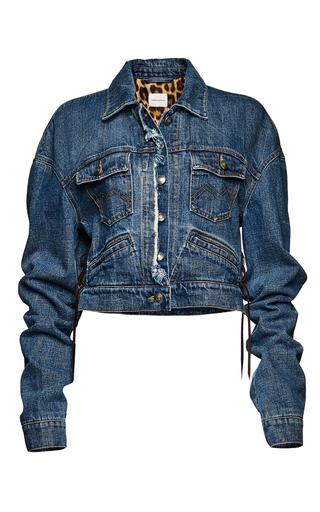 Medium magda butrym navy cropped denim jacket