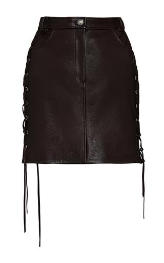 Medium magda butrym red leather lace up mini skirt
