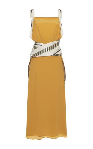 Medium zeus dione yellow leukes sleeveless midi dress