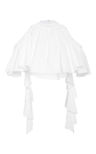 Medium ellery white baby cropped ruffle top