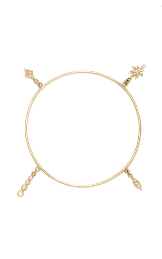 Medium jacquie aiche gold 4 charm shaker bangle 2