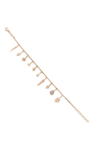 Medium jacquie aiche rose gold ja classics charm shaker bracelet
