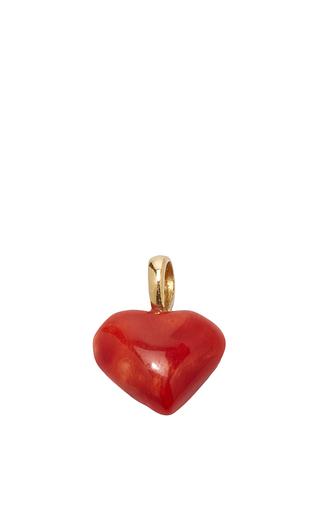 Medium with love darling red coral heart charm