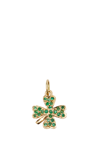 Medium with love darling green emerald clover charm