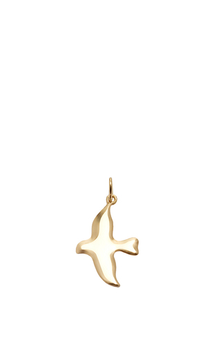 Medium with love darling gold peace dove charm