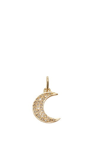 Medium with love darling gold moon charm
