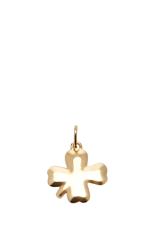Medium with love darling gold clover charm