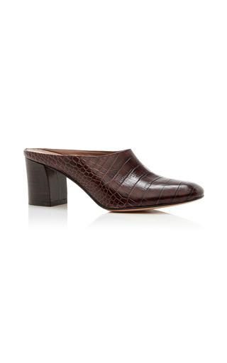 Medium maryam nassir zadeh brown maryam embossed leather mules