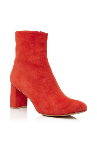 Medium maryam nassir zadeh red agnes suede ankle boots