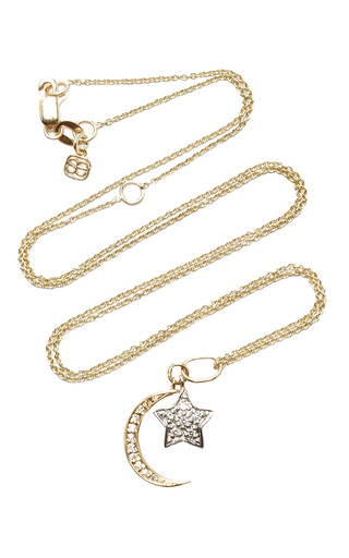 Medium sydney evan gold yellow gold moon and white gold star charm