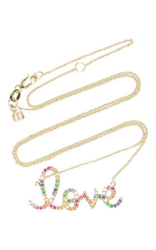 Medium sydney evan multi rainbow large love necklace