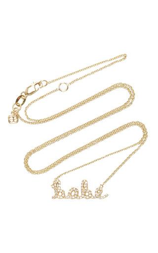 Medium sydney evan rose gold small babe necklace