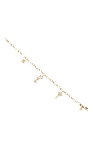 Medium sydney evan gold 3 love charm bracelet