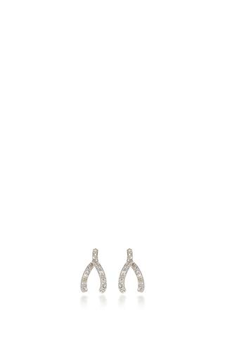 Medium sydney evan silver wishbone studs