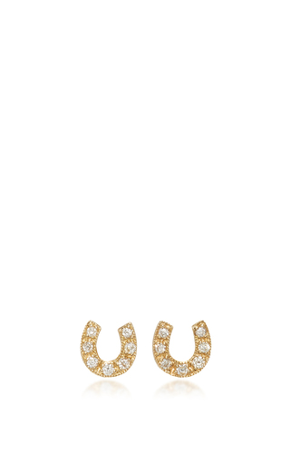 Medium sydney evan gold horseshoe studs